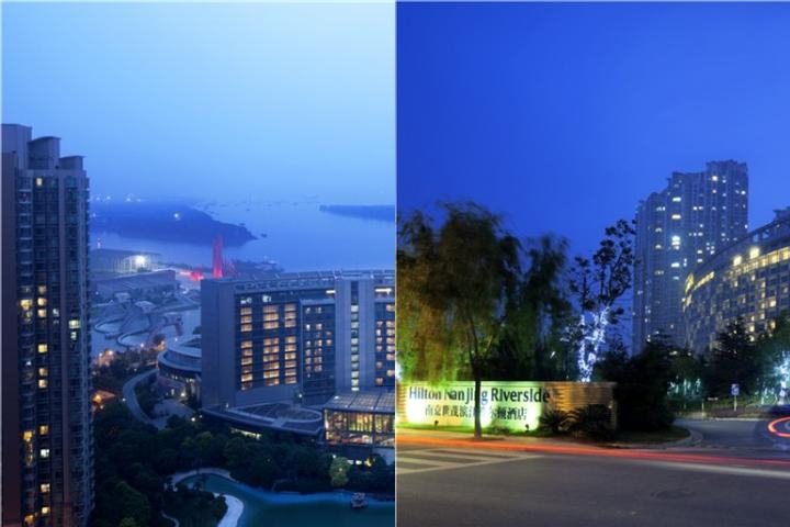 Hilton Nanjing Riverside photo collage