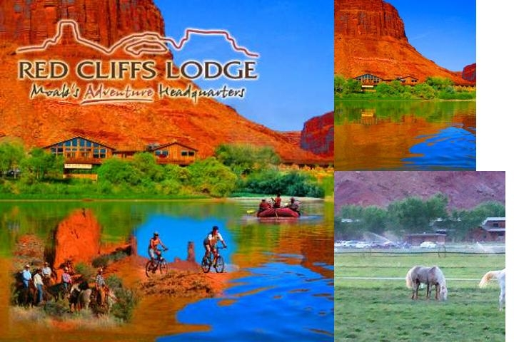 Red Cliffs Lodge photo collage