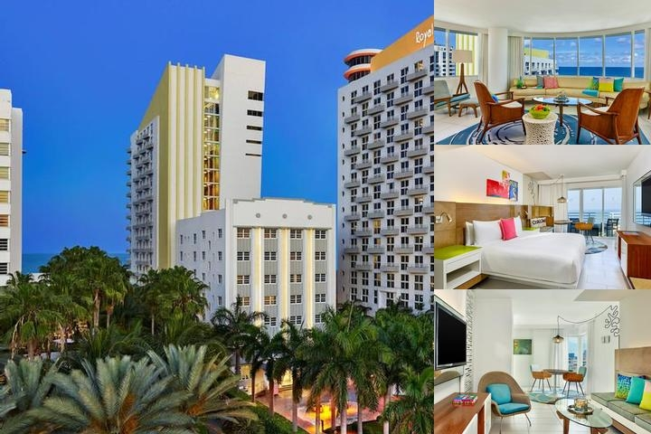 Royal Palm South Beach Miami photo collage