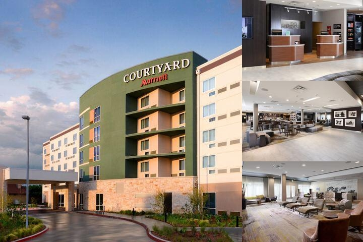 Courtyard Plano / The Colony photo collage