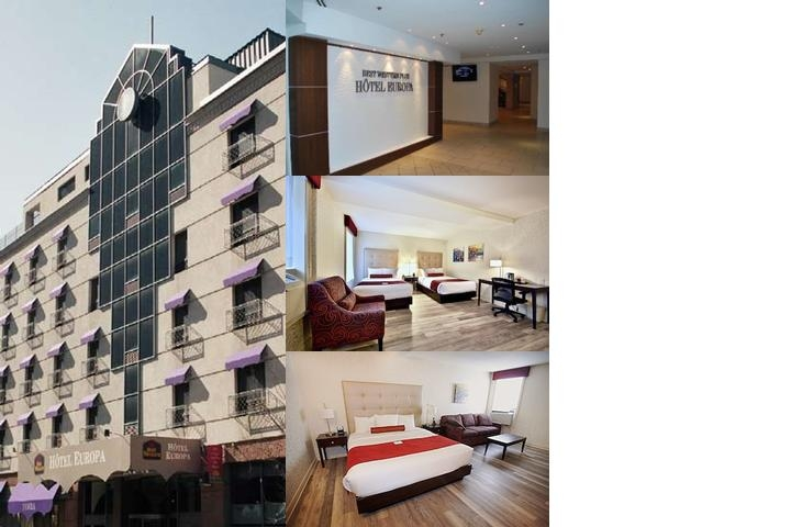 Best Western Plus Montreal Downtown Hotel Europa photo collage