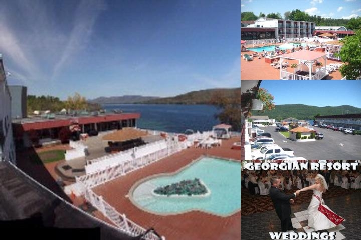 Georgian Resort & Conference Center Lake George photo collage