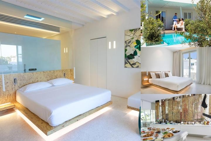 Mykonos Dove Beachfront Hotel photo collage