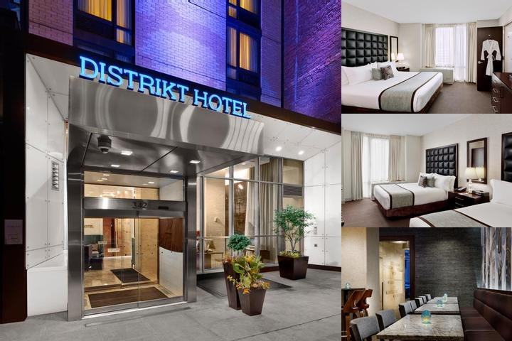 Distrikt Hotel New York City photo collage