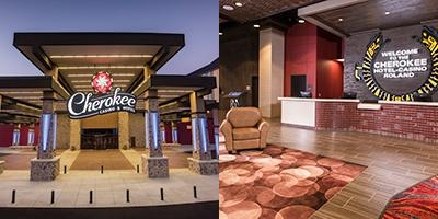Cherokee Casino & Hotel Roland photo collage