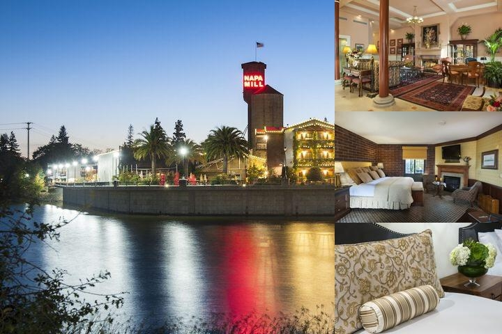 Napa River Inn photo collage