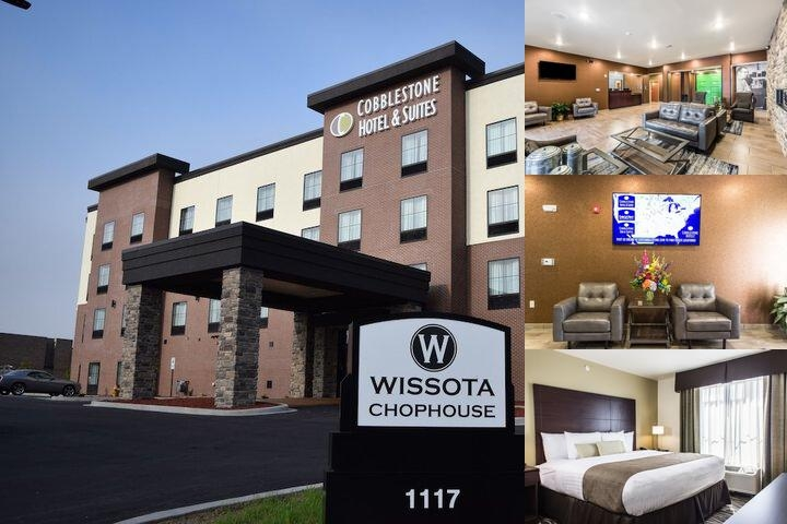 Cobblestone Hotels & Suites Wissota Chophouse Stevens Point photo collage