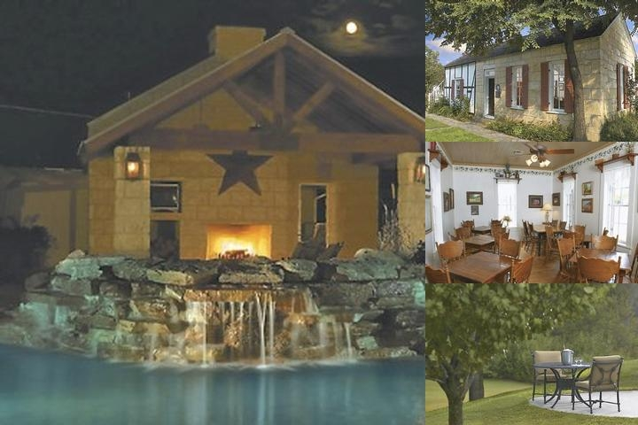 Fredericksburg Inn & Suites Poolside Cabana W/ Fireplace Television And In-Ground Hot Tub.