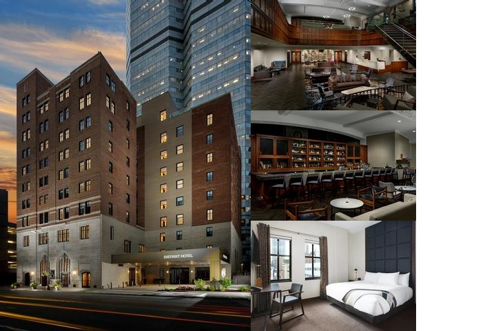 Distrikt Hotel Pittsburgh Curio Collection by Hilton photo collage
