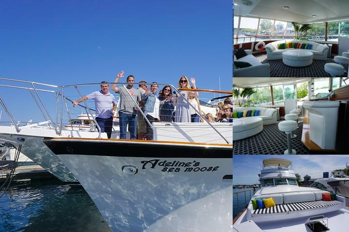 Chicago Private Yacht Adeline's Sea Moose photo collage