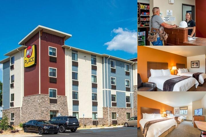 My Place Hotel Greenville photo collage