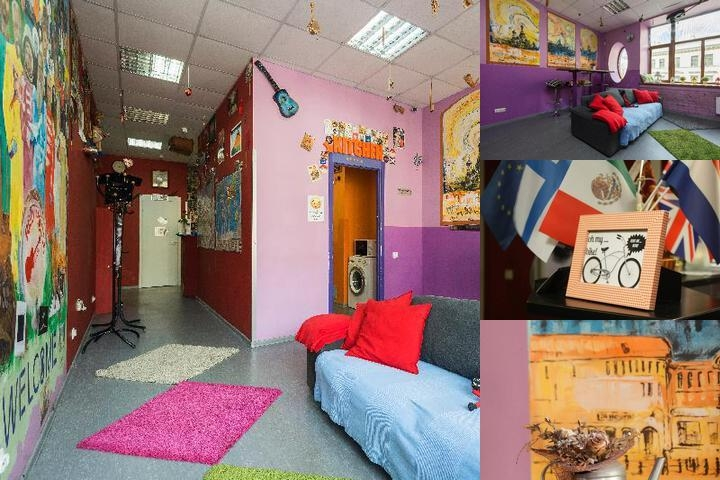 Red House Hostel photo collage
