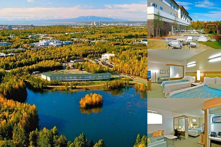 Springhill Suites Anchorage University Lake photo collage