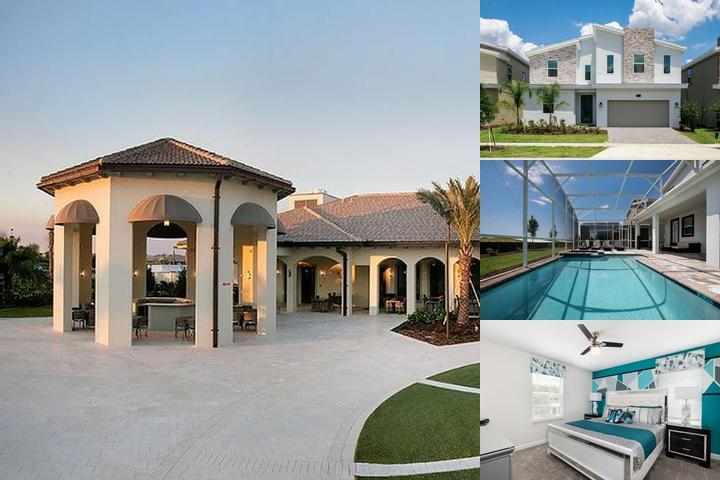 Luxury Disney Homes With Pools at Champions Gate Golf Resort photo collage