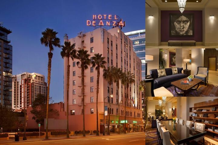 Hotel De Anza Hyatt Hotels photo collage