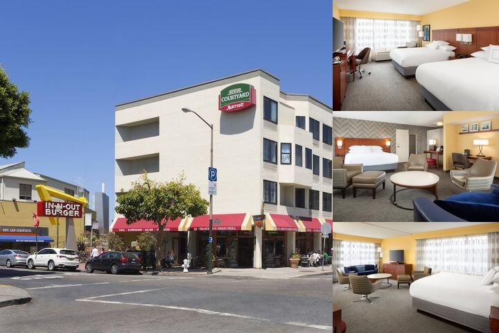 Fisherman's Wharf Courtyard by Marriott photo collage