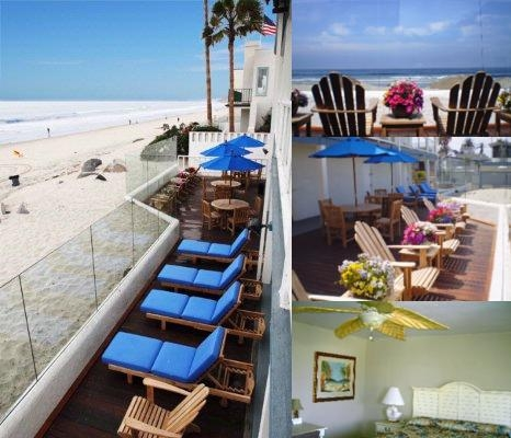Del Mar Motel on the Beach photo collage