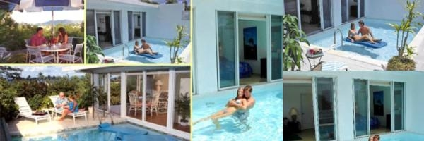 Pavilions & Pools Hotel photo collage