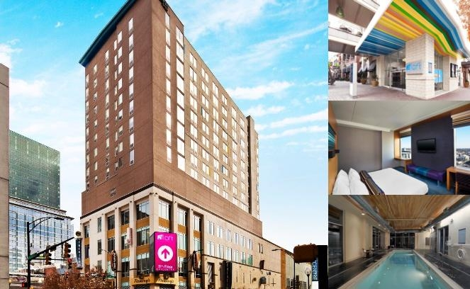 Aloft Charlotte Uptown at the Epicentre photo collage