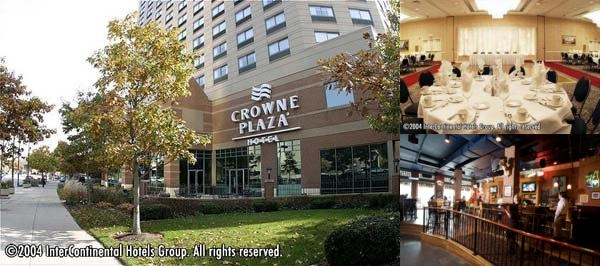 Crowne Plaza Hotel Downtown Columbus Ohio photo collage