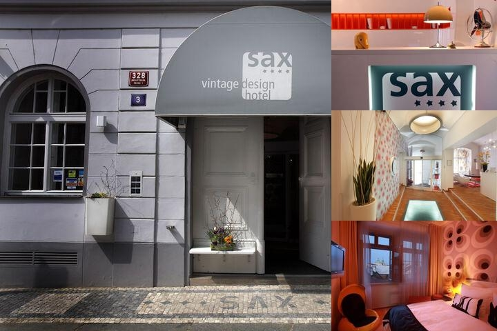 Vintage Design Hotel Sax photo collage