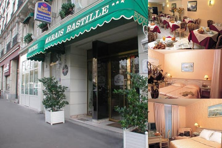 Best Western Marais Bastille photo collage