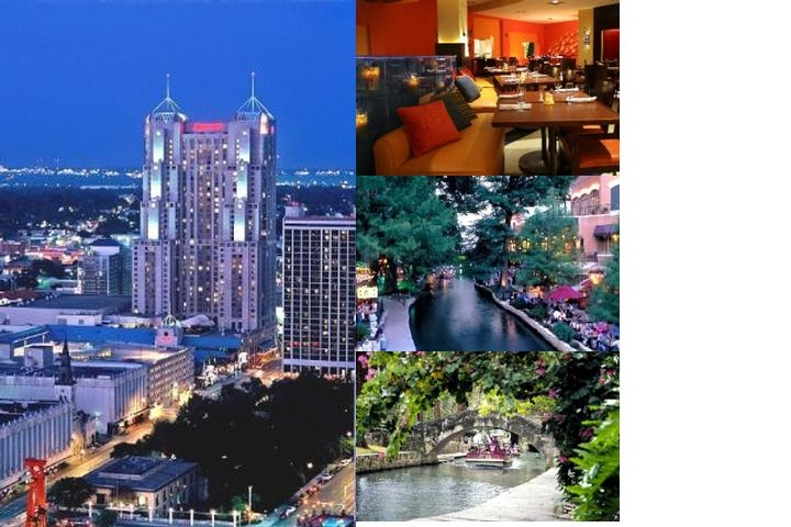 San Antonio Marriott Rivercenter Hotel photo collage