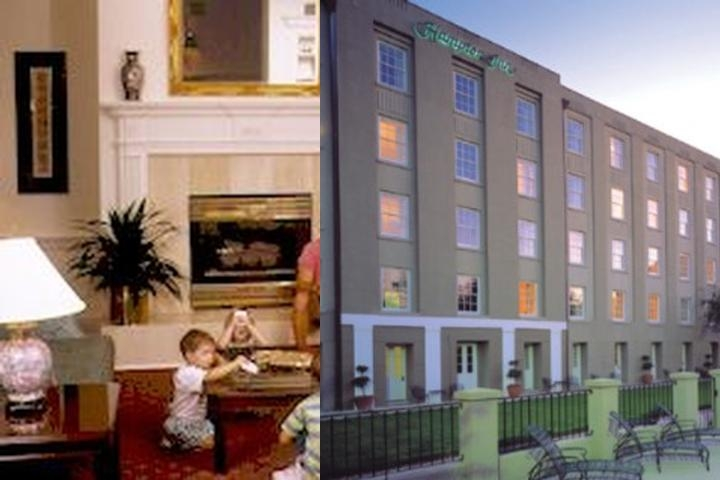 Hampton Inn Historic photo collage