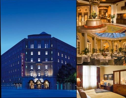 The Sainte Claire Hotel photo collage