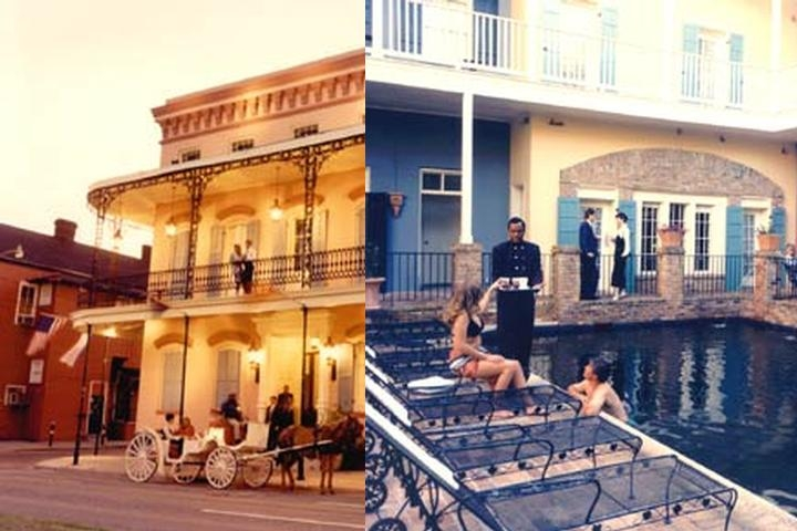 French Quarter Courtyard photo collage