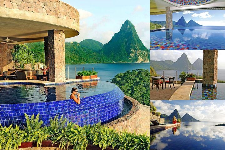 Jade Mountain photo collage