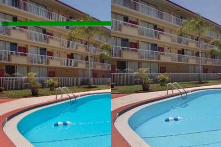 Elegant Red Roof Inn Photo Collage