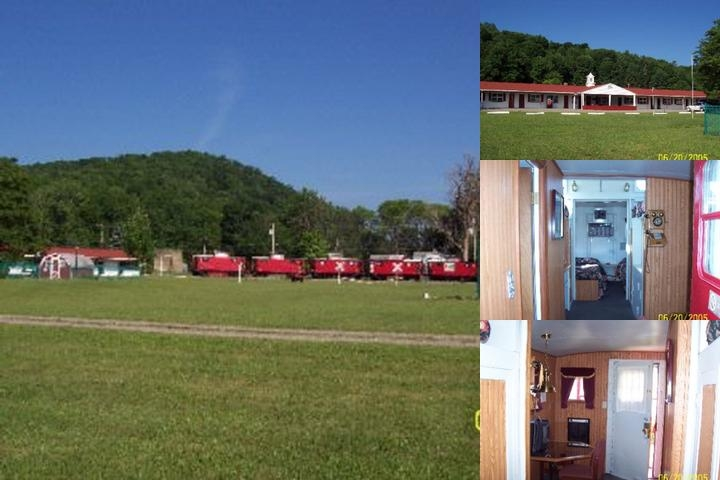 Caboose Motel photo collage