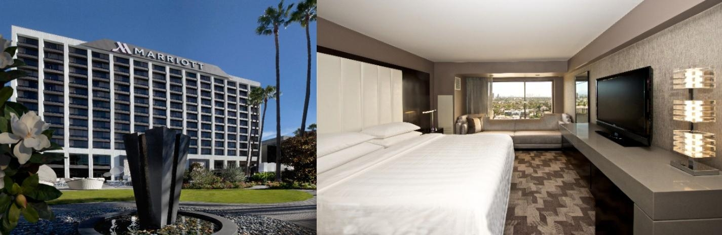 Beverly Hills Marriott photo collage