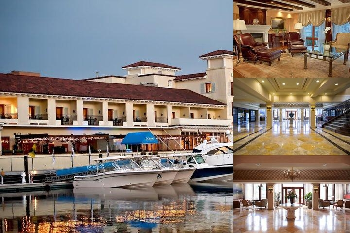 Delamar Greenwich Harbor photo collage