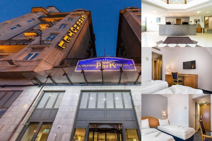 Golden Park Hotel Budapest photo collage