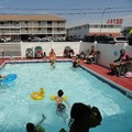 Swimming pool at Anchor Motel