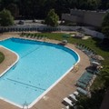 Swimming pool at Doubletree by Hilton Baltimore North Pikesville