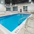 Swimming pool at Microtel Inn & Suites Sudbury