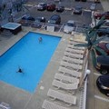 Swimming pool at Quarterdeck Motel
