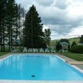 Swimming pool at Stowe Motel