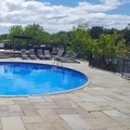 Swimming pool at Taboo Muskoka
