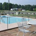 Swimming pool at Timberlake Motel