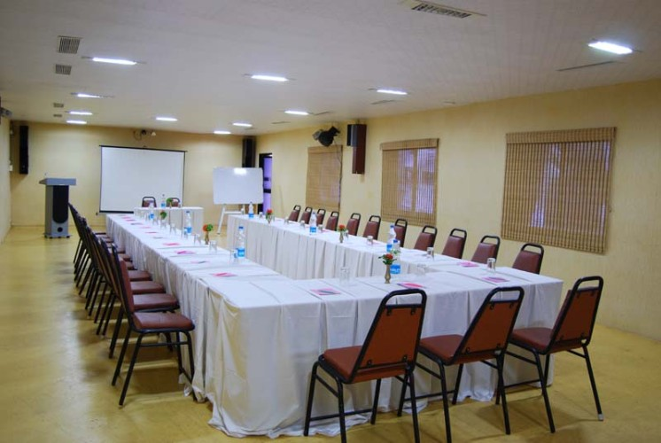 Photo of bamboo conference hall
