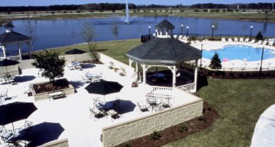 Outdoor Patio with 2 Gazebos Meeting Space Thumbnail 1