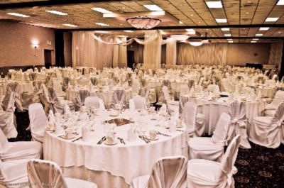 Wedding Set-Up In Hotel Ballroom 7 of 16