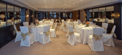 Kensington Suite Set Up For A Wedding Dinner On Round Tables 3 of 8