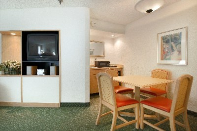Eating Area And T.v. In Suite\'s Living Area 6 of 11