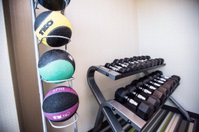 Workout With Free Weights Medicine Ball Bench & Mats 18 of 31