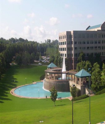 Colonnade Fountain (View Of Corporate Offices From Hote) 2 of 12